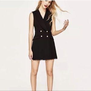 Zara black lace jumpsuit size XS
